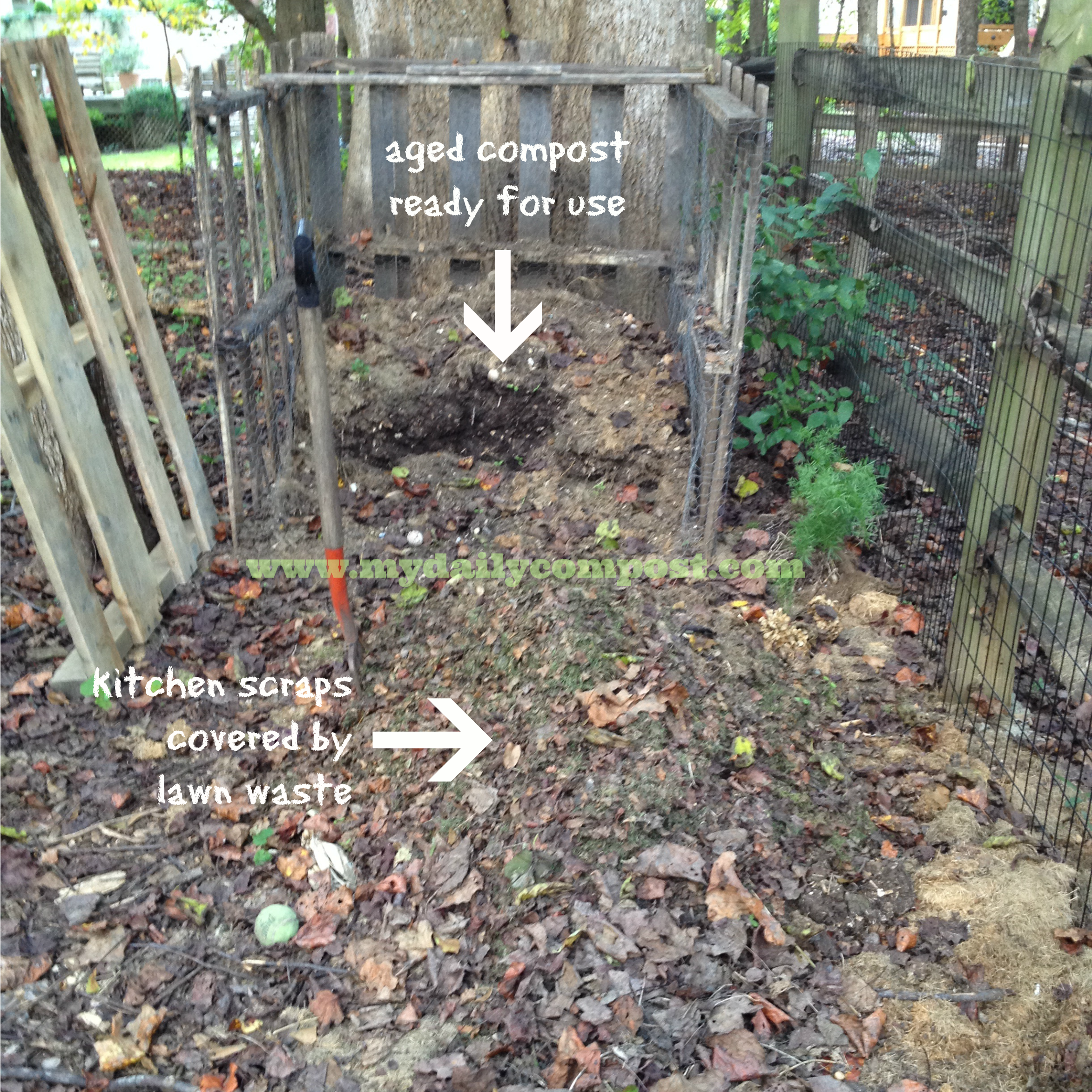 compost pile fall