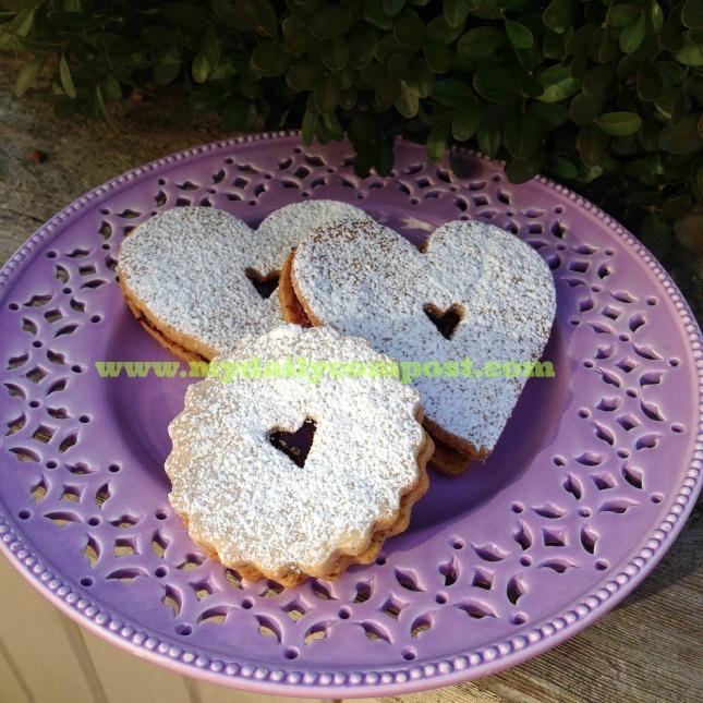 Valentines Linzer Tarts